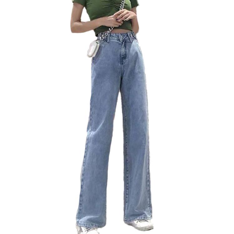 Pantalones Vaqueros Anchos De Cintura Alta Para Mujer Ajustados Sencillos Y Generosos Para Primavera 2020 Buy Jeans De Mujer Vaqueros Delgados Sencillos Y Generosos Cintura Alta Para Jeans Product On Alibaba Com
