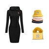 Платье черного цвета хаки сумочки и шляпы