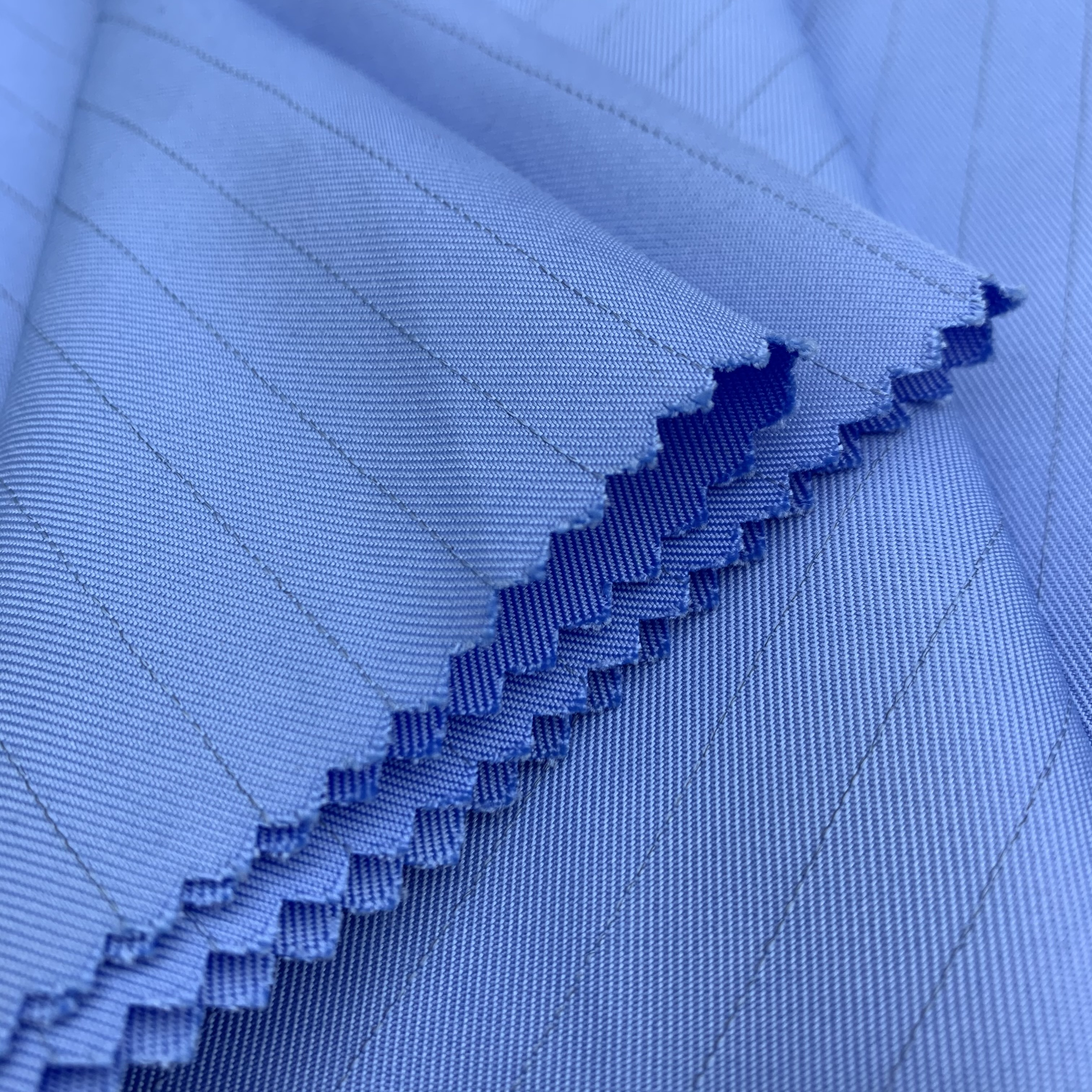 Cheap Anti-static 150D/144F*150D/144F Twill Fabric 145gsm 100% Polyester for functional special hospital and food wear