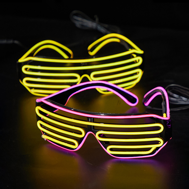 LED Luminous Glasses Disco Bar Birthday party Atmosphere Stage Special Performance Props Cool Decorative Glasses