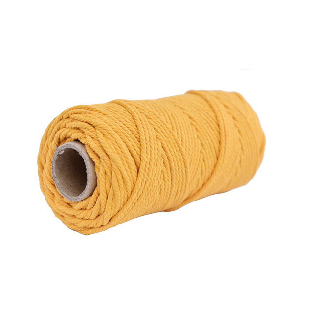 Wholesale Colorful Wall decorative DIY Handmade Braided rope cotton macrame cord