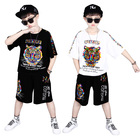 Boys' Set Boys' Summer Suit 2021 Boys' Short Sleeve Suit Summer Suit 4-12 Year Old Children's Clothing Set