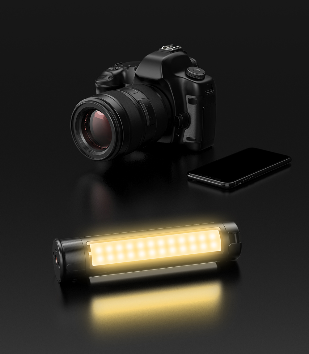 APEXEL 2021 Rechargeable video Led light wand, Selfie light stick with tripod stand and remote control for Photography