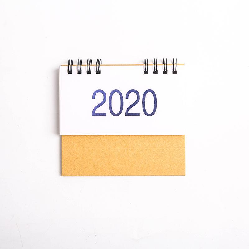 2020 новая простая настольная бумага календарь двойной ежедневный планировщик стол планировщик годовой Органайзер дня школьные канцелярски...(Китай)