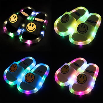 2020 summer outdoor led light jelly slides hot style children's slippers