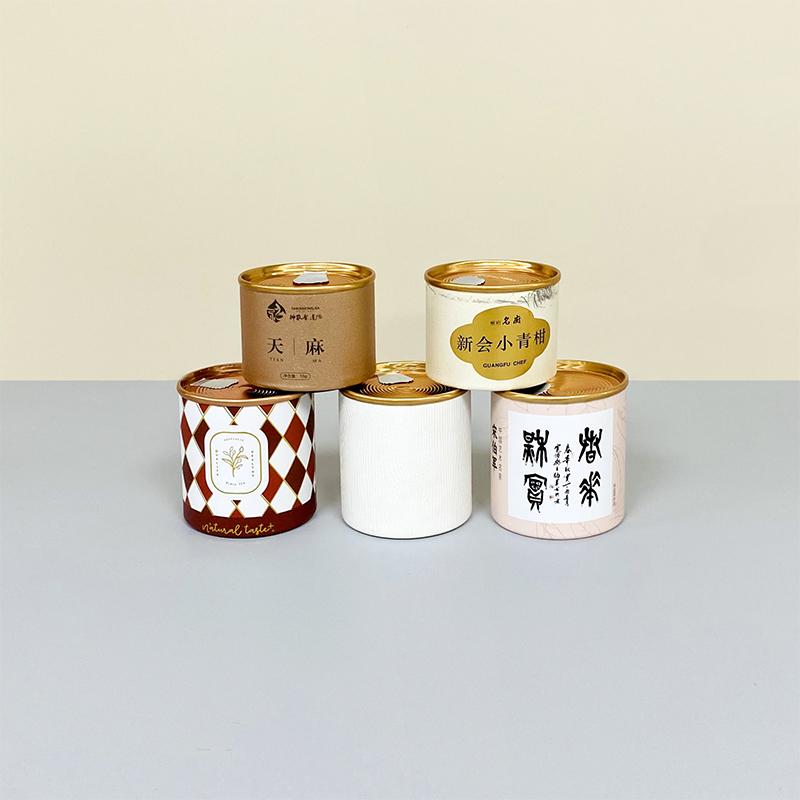 Оптовая продажа от производителя, маленькая бумажная банка, пищевой контейнер, чайные бумажные трубки, упаковка