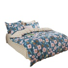 Seersucker Bedding Wholesale Customize 100% Cotton Seersucker Bedding Set Cheap Bed Sheet Sets