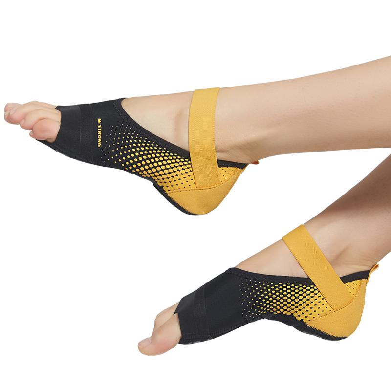 Носки для йоги с нескользящим липким ремешком без носка, аксессуары для балетных танцев и тренировок для женщин и мужчин