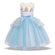 Вечерние платья с единорогом и звездами для малышей, 2020 Детские платья для девочек, детское платье-пачка принцессы вечерние платья для дево...(Китай)