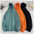 Accept small order custom high quality 320 gsm wholesale oversized 100% cotton french terry blank men's hoodies