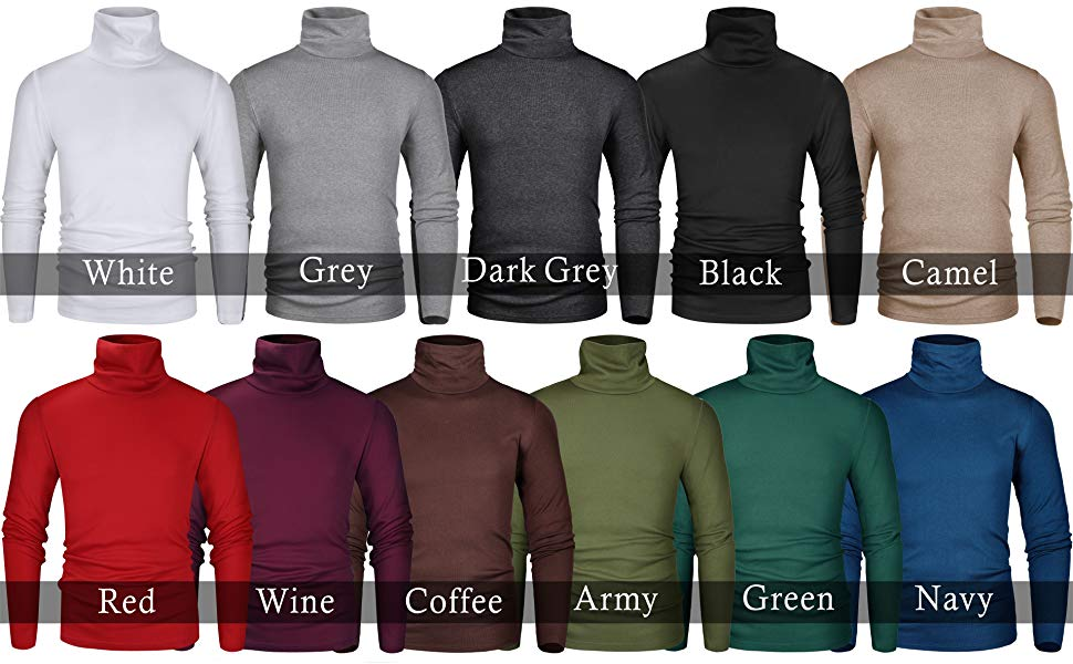 Top selling turtle neck top long sleeve slim fit turtleneck sweater for men