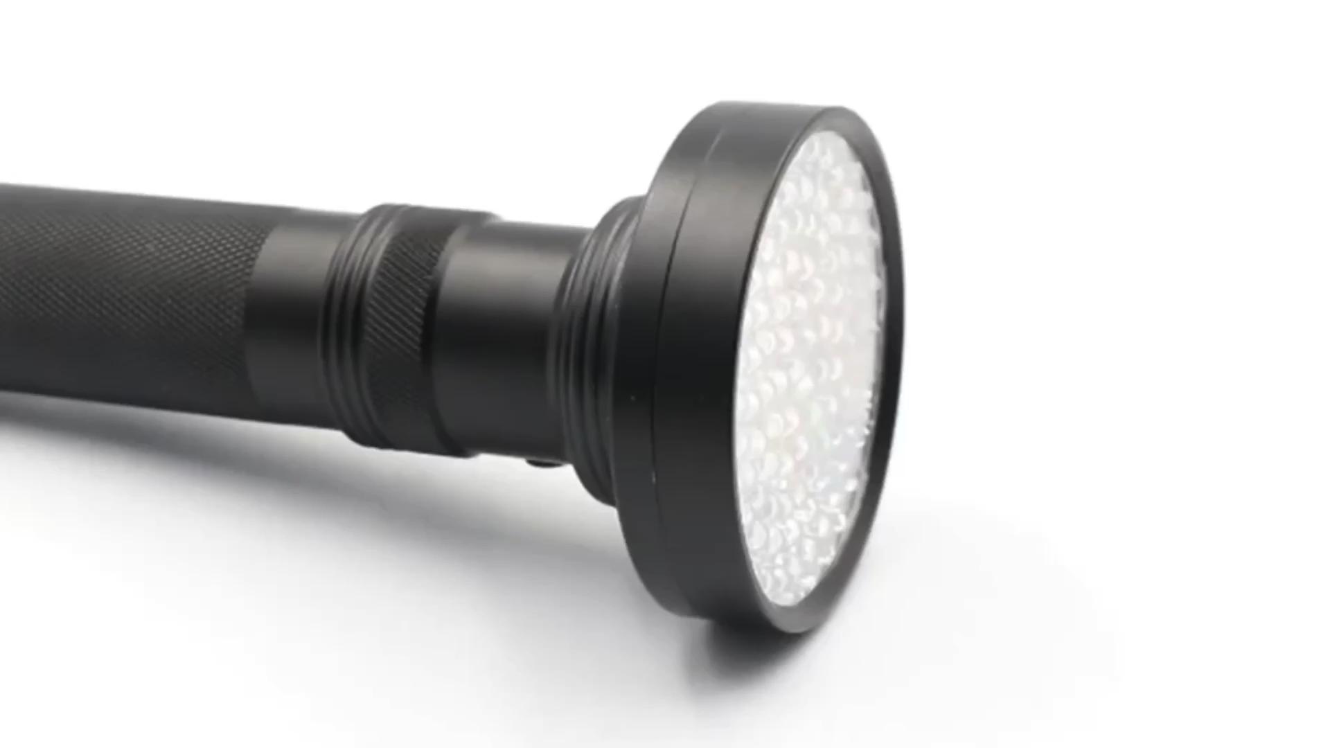 개 고양이 소변 자외선 탐지기 사냥 전갈 블랙 395NM 100 LED UV 손전등