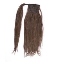 100% человеческие волосы конский хвост бразильская машина Remy конский хвост обертывание вокруг парик «конский хвост» 60 г 80 г шиньоны Натураль...(Китай)