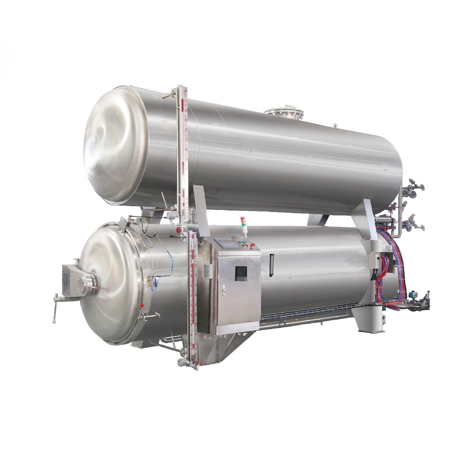 Spray sterilization retort food processing process steam retort sterilizer