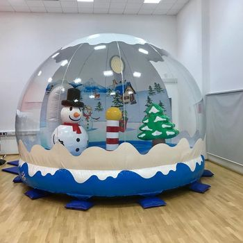 2020 Guangzhou hot sale XMAS inflatable snow globe with blowing snow
