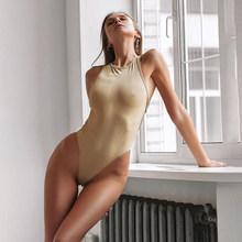 Sweetown 2020, летнее Сексуальное Женское боди с открытыми плечами, с открытой спиной, с перекрещивающимися ремешками, спортивная одежда, однотон...(Китай)