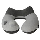 U Phone Pillow With Design Adjustable Soft And Hard U Shape Travel Support Custom Camping Cervical Neck Pillow Travel Airplane Pillow With Phone Bag