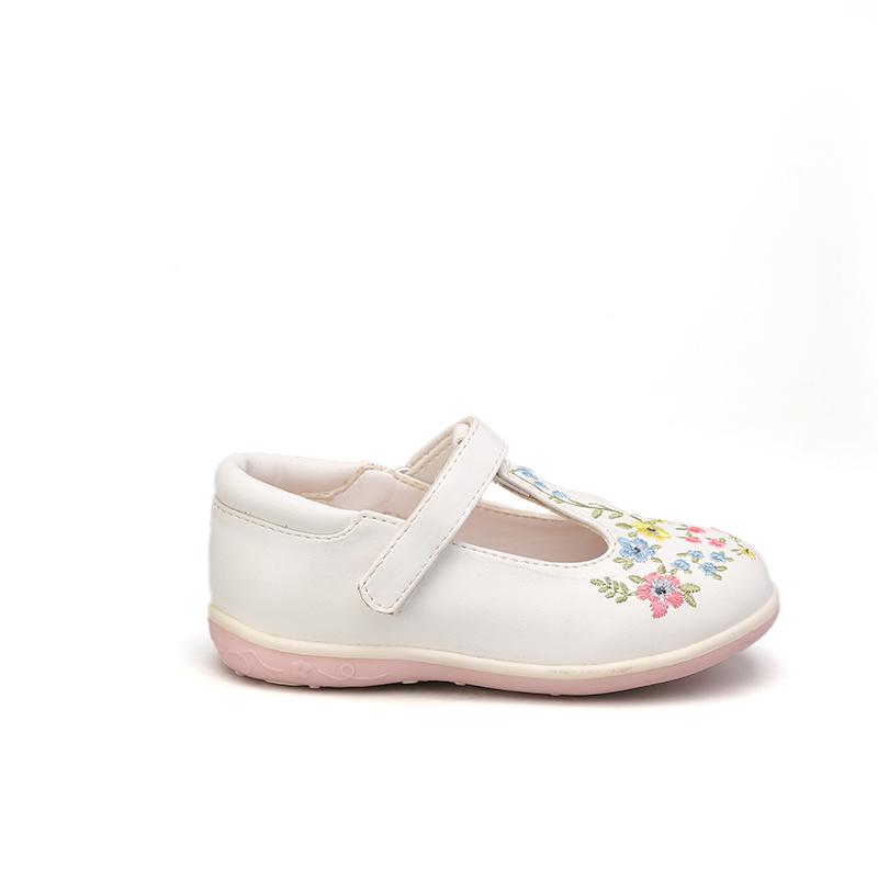 2021 Самые популярные Модные Туфли Мэри Джейн на плоской подошве для девочек Детские классические туфли с цветочной вышивкой