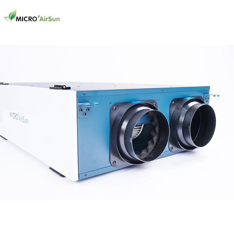 250 m3/h DC latent heat exchange ventilation system with ERV core