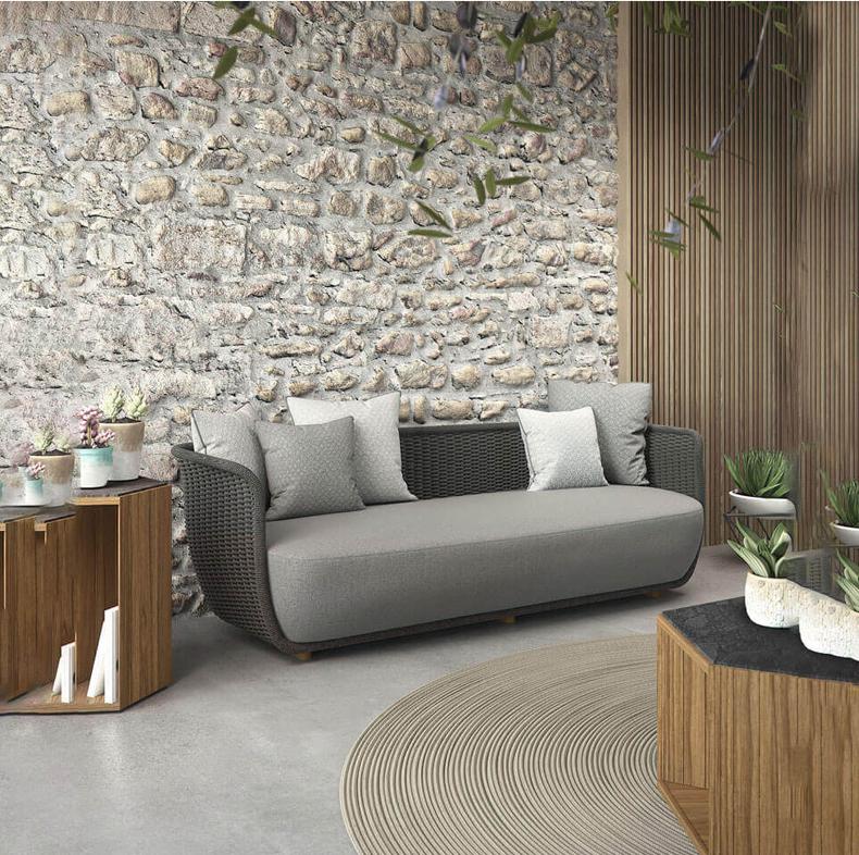 Пластиковая ротанговая/плетеная мебель rh tuft для внутреннего дворика, сада, улицы, гостиницы, дивана, наборы ротанговой мебели, уличная мебель