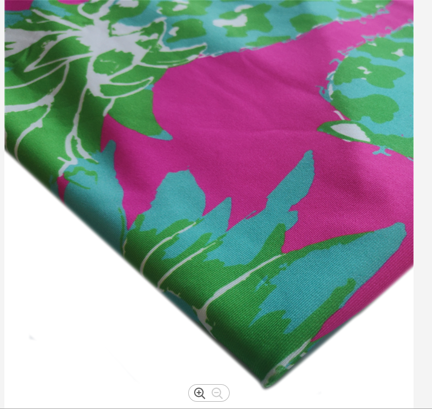 Comfortable Sportswear Fabric Polyester Stretch Knit Wrap Small Print Polyester Fabric Clothing Stretch Fabric For Yoga Wear