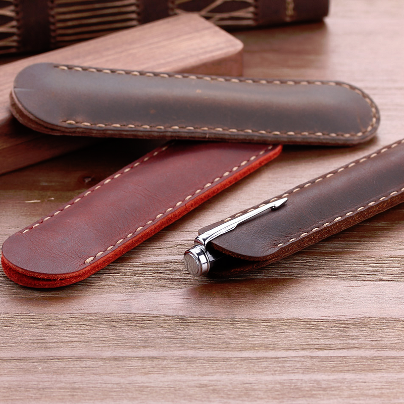 Youyue Handmade Genuine Leather Pencil Bag/Sleeve Pen Case Holder