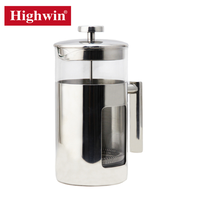 Commercial High Quality Glass French Press Maker 1.5Liter Coffee Press Large capacity