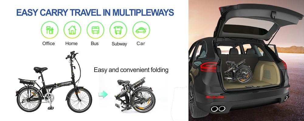 Folding design city carbon 250w 350w 36v 20 inch moped electric bicycle - folding electric bike - 3