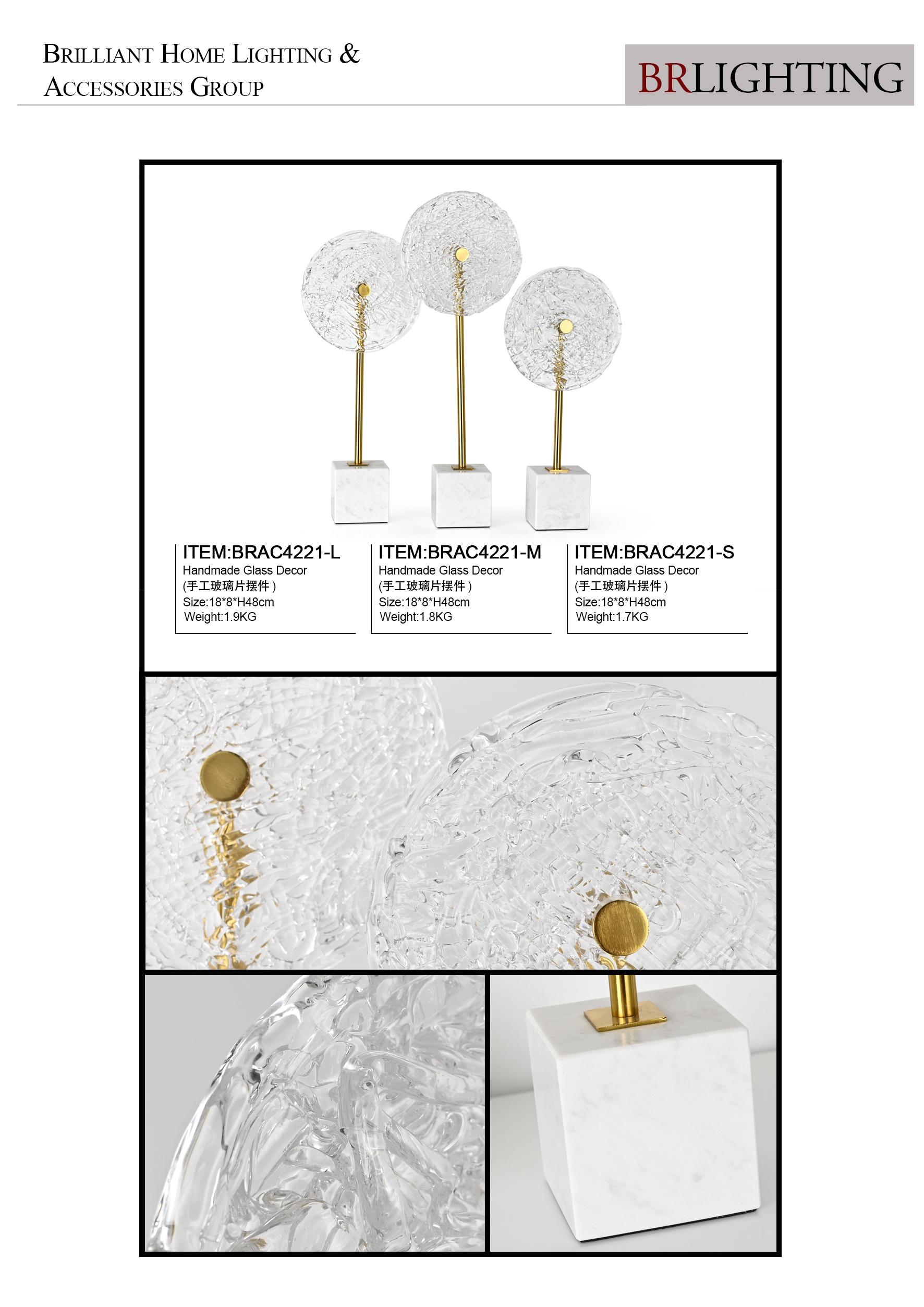 Офисный стол foscarini, Современное украшение, золотой декор, стеклянный камень, художественное ремесло