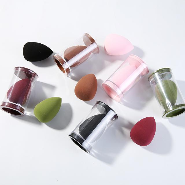 Салон красоты смешивания блендер упаковочной коробки Макияж Губка розового, фиолетового, черного цвета с зеленого латекса красного и синего цвета OEM по индивидуальному заказу