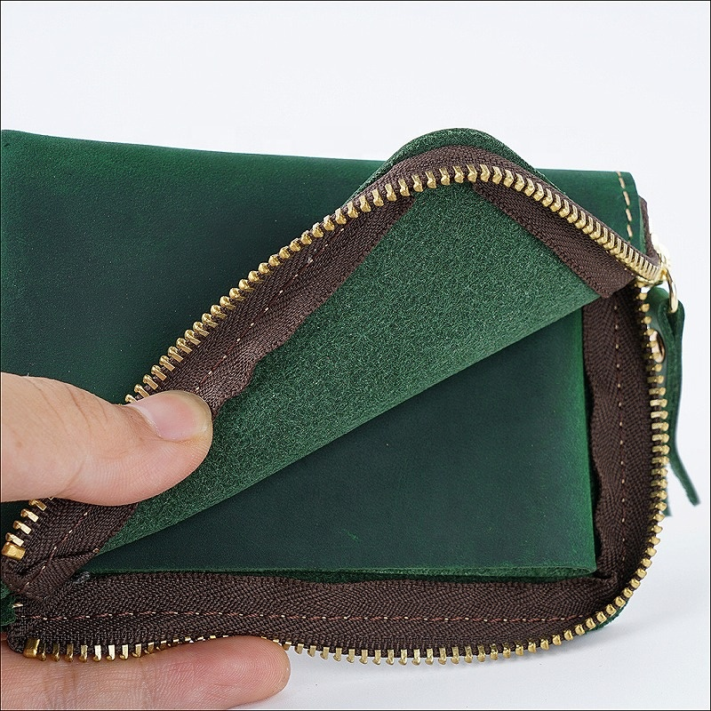 In Stock Hot Selling Leather Coin Purse Pouch Change Purse With Zipper For Men Women