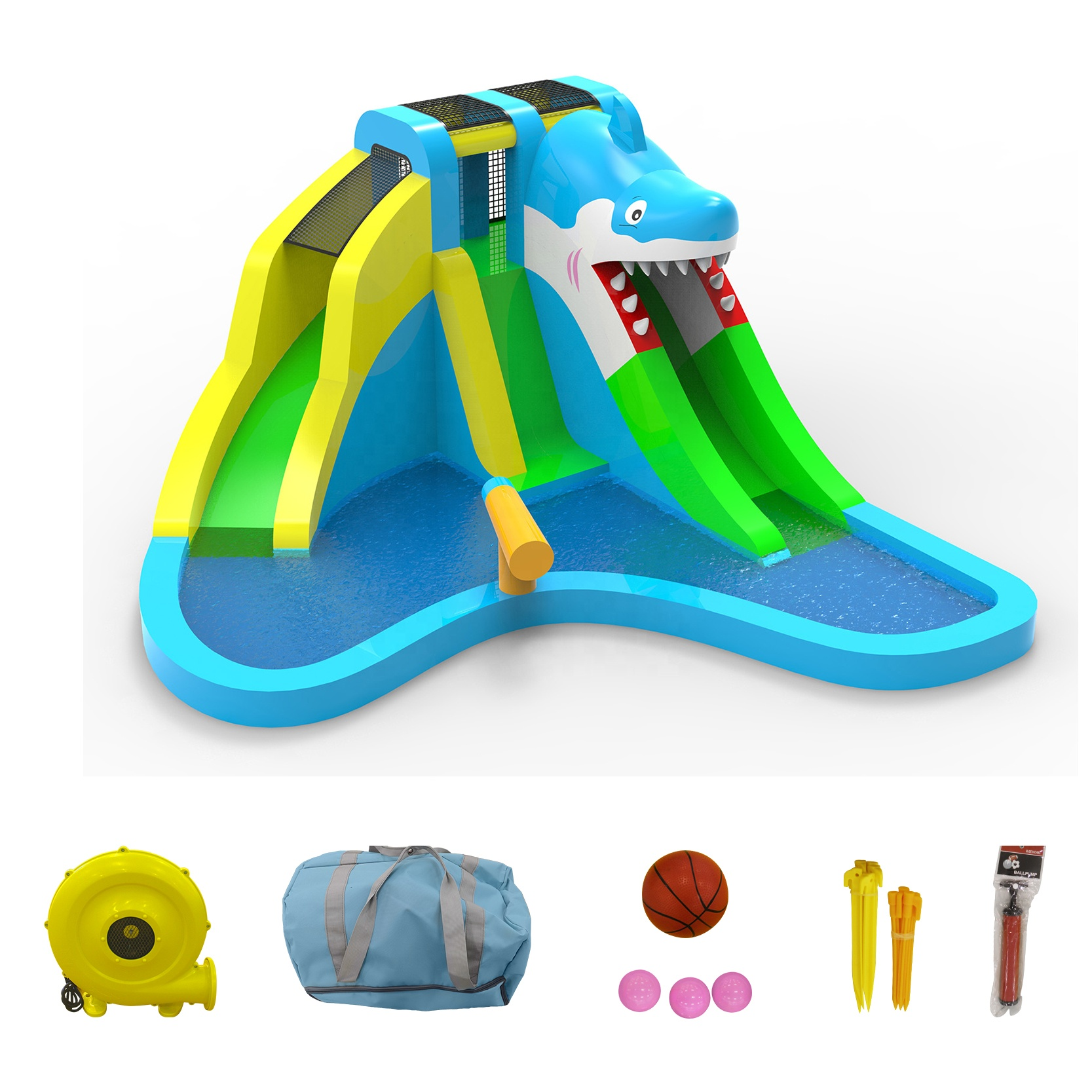Wholesale factory price mini Nylon inflatable bouncer Oxford castle for kids
