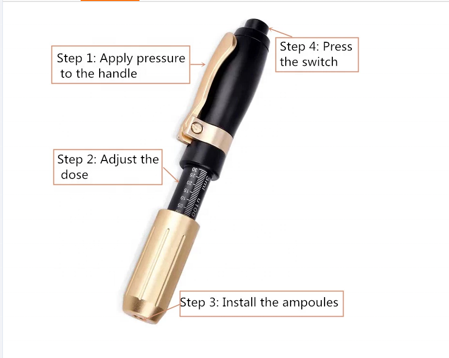 Hyaluronic injector gun for lip filler no needle dermal filling mesotherapy injection pen