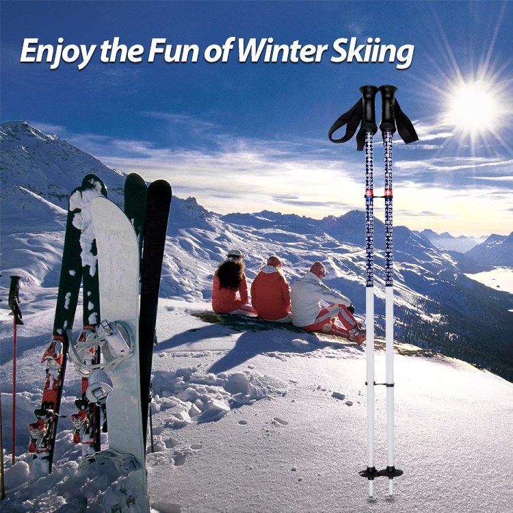 Оптовая продажа, легкие комбинированные алюминиевые ручки для лыж с подогревом 7075 для треккинга в скандинавском стиле