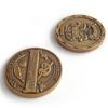 Double-sided di monete d'oro