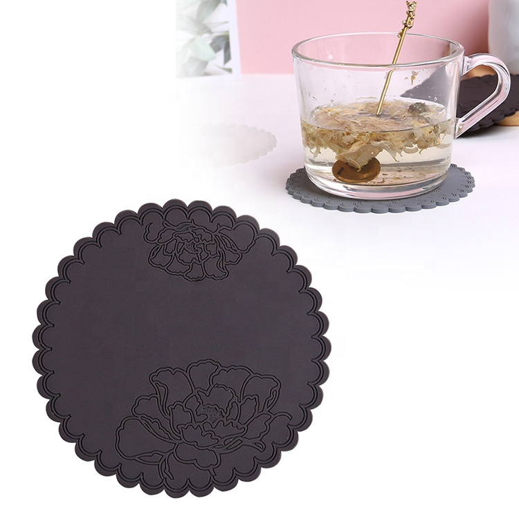 ODM OEM Customized Heat Resistant Hot Pot Pads Silicone Cup Mat Drink Coasters Set