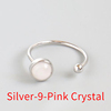 Silver-9 Pink Crystal