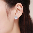Cubic Zirconia Silver Silver Cubic Zirconia Earrings SCE358 Classical Simple Cz Cubic Zirconia Top Sales 925 Sterling Silver Stud Earring