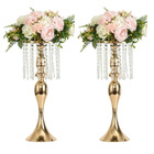 54cm Wedding Decoration Party Road Lead Flower Table Stand Crystal Gold Table Wedding Centerpieces for Wedding Table Decoration