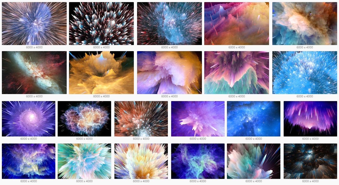 平面素材-22张高清超强视觉冲击力空间爆炸效果背景素材Space Explosion(4)