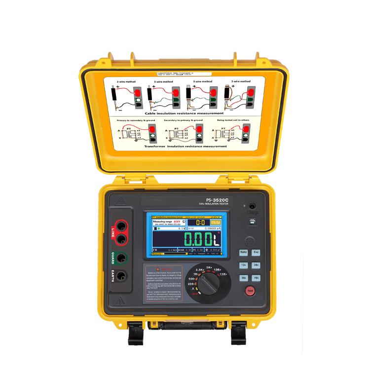 5kv 10kv 15kv HV insulation resistance tester megahometer
