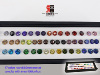One set for samples Rd 8.0mm CZ 47 colors with an exhibition box