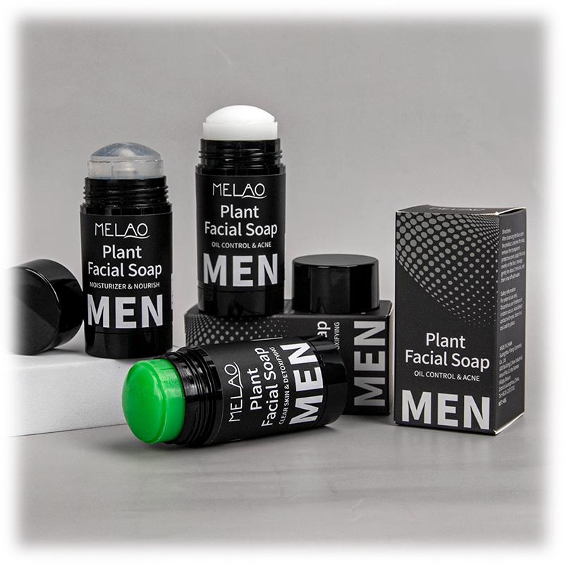 Private Label Custom Moisturizing Deep Cleaning remove Acne Restore Skin Firmness Man Plant Facial soap