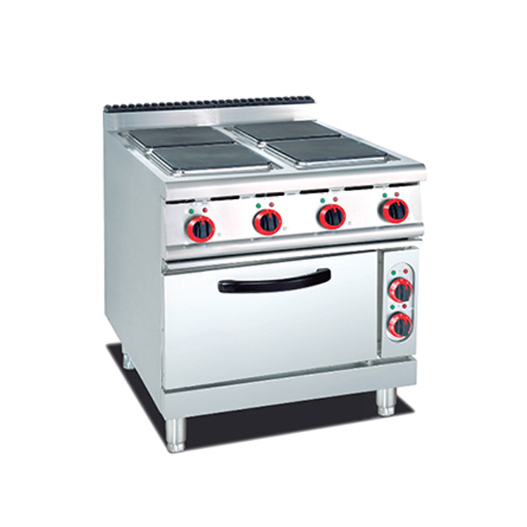 Catering Equipment High Quality China Factory Cheap 4 Burner Steel Restaurant Equipment Stove Ranges With Oven