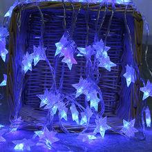 2 м светодиодный Звездный струнный свет дома вечерние звездный свет уютный светящиеся гирлянды для Спальня вечерние с 10 светодиодный бусин...(Китай)