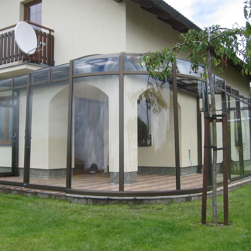 Зимние закаленное стекло тепла из алюминиевого сплава с плоской крыши солярии стекло солярии