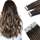 Hair Extensions Tape Hair Large Stock Top Quality Virgin Hair 100% Remy Human Double Drawn Tape Hair Extensions