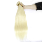 Wholesale Brazilian Bundles Straight Wave 613 Blonde Weave Raw Mink Cuticle Aligned Virgin Human Hair Extension