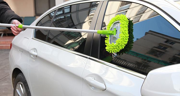Щетка для мытья автомобиля с телескопической алюминиевой ручкой, щетка для швабры из синели