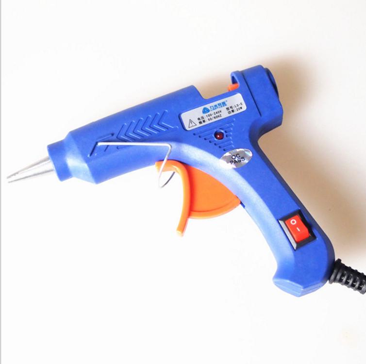 Популярные Лидер продаж 20 Вт термоклей оптовая продажа стандартный европейский стандарт мини клеевой пистолет